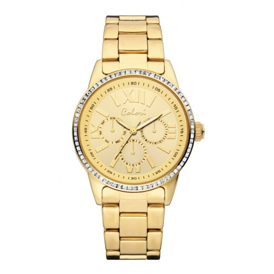 Colori Gold Stainless Gold dial Watch for Women's 5-COL376
