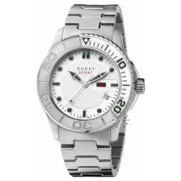 Gucci Silver Stainless Silver dial Watch for Men's YA126232