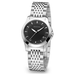 Gucci Silver Stainless Black dial Watch for Women's YA126502