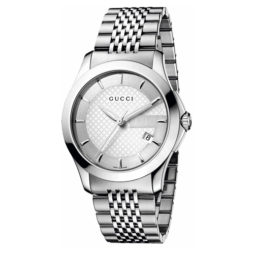 Gucci Silver Stainless Silver dial Watch for Men's YA126401