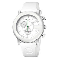 Gucci White Rubber White dial Watch for Women's YA101346