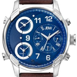 JBW Brown Leather Blue dial Watch for Men's J6248LN
