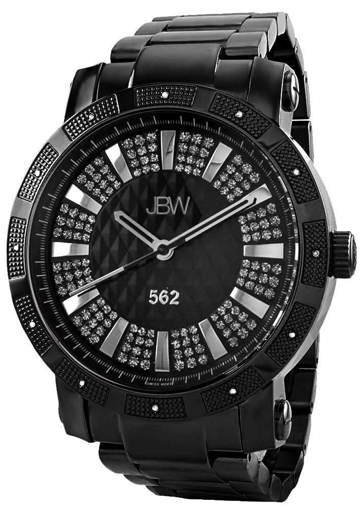 JBW Black Stainless Black dial Watch for Men's JB-6225-D