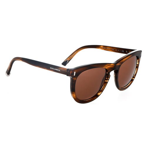 DOLCE & GABBANA DG4281-292573-52 STRIPED TOBACCO SQUARE