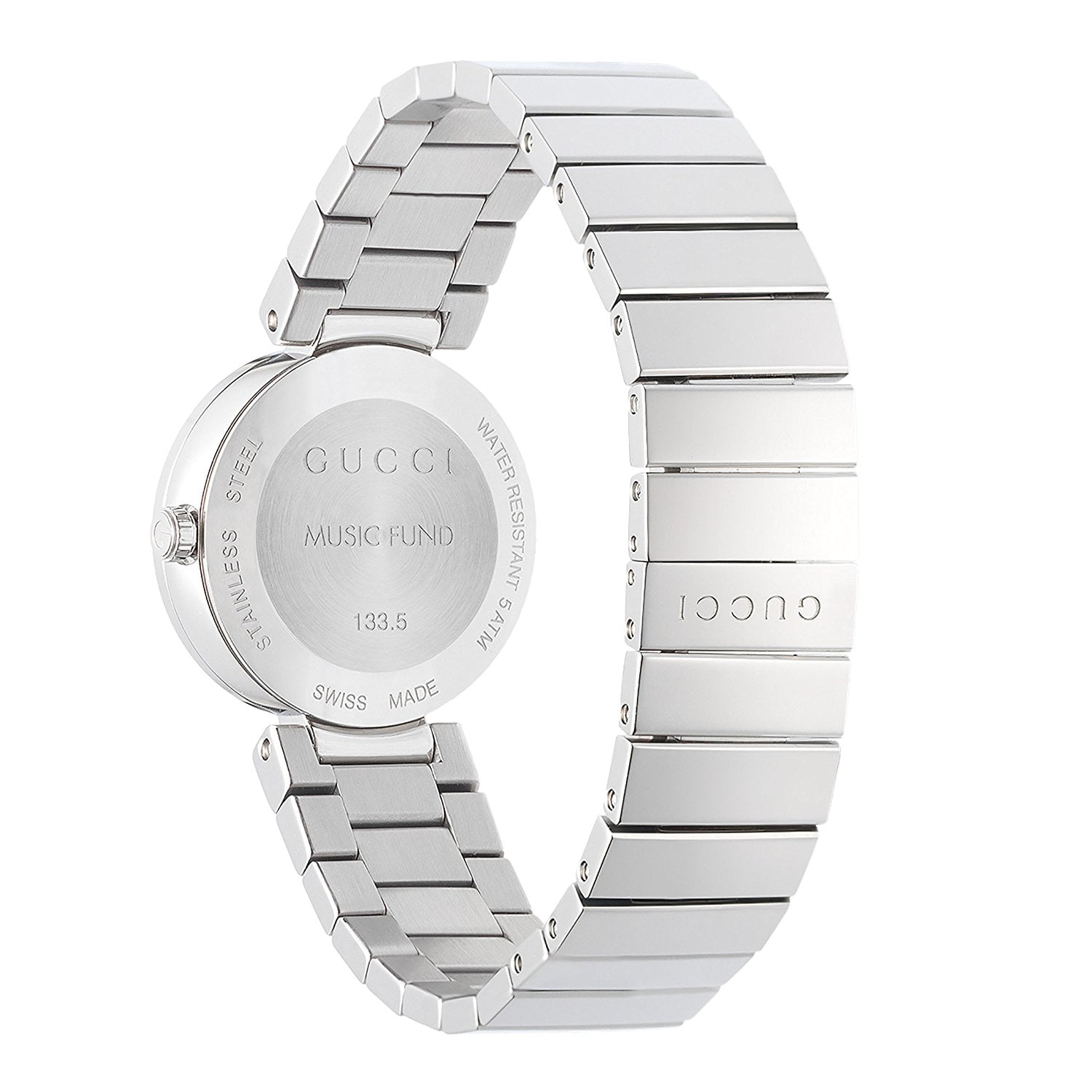 Gucci Silver Stainless Black dial Watch for Women's YA133511