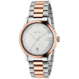 Gucci Two Tone Stainless Silver dial Watch for Men's YA126447