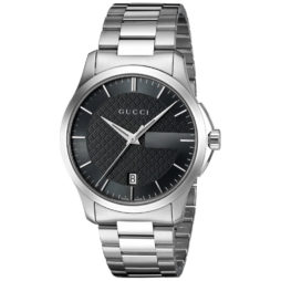 Gucci Silver Stainless Black dial Watch for Women's Men's YA126457