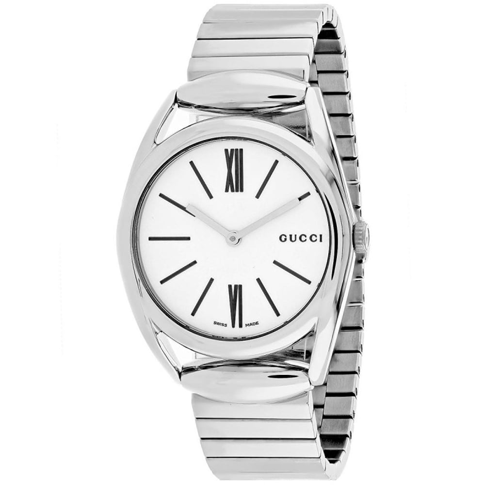 Gucci Silver Stainless White dial Watch for Women's YA140405