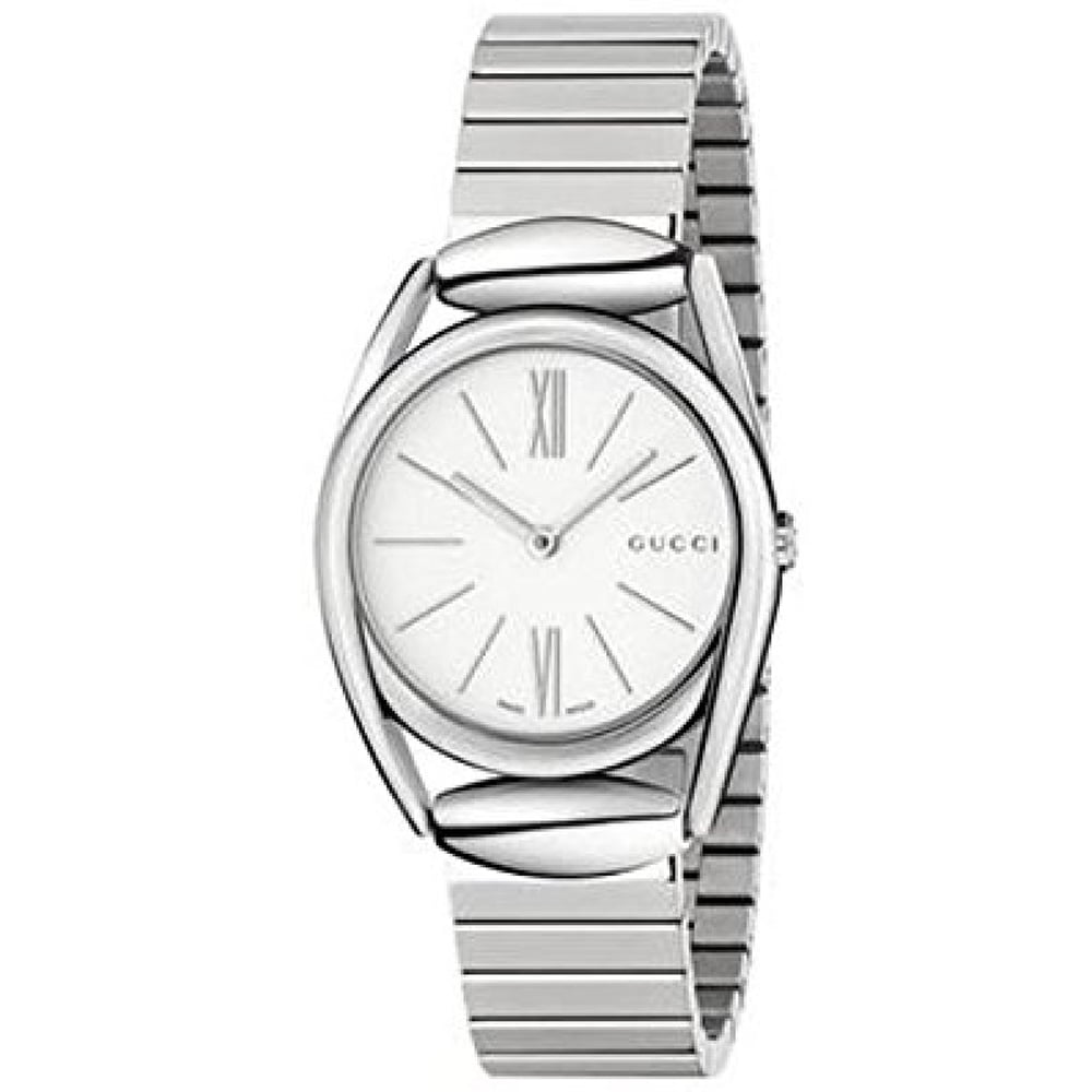 Gucci Silver Stainless White dial Watch for Women's YA140505