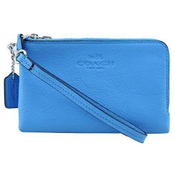 Coach Blue Leather Clutch F64130-SVAZ