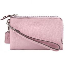 Coach Pink Leather Clutch F64130-SVET