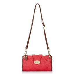 Giulia Massari Red Leather Shoulder 6689 RED