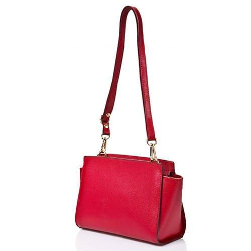 Joana & Poala Red Leather Shoulder 1008/C6