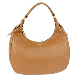 Prada Brown Leather Hobo B4311M