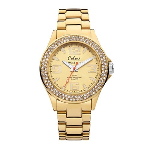 Colori Gold Stainless Gold dial Watch for Women's 5-COL219