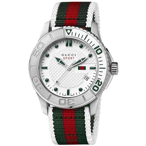 Gucci Two Tone Fabric White dial Watch for Men's YA126231