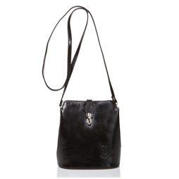 Massimo Castelli Black Leather Shoulder 8358 BLACK