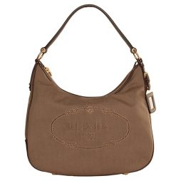 Prada Beige Leather Hobo BR3422