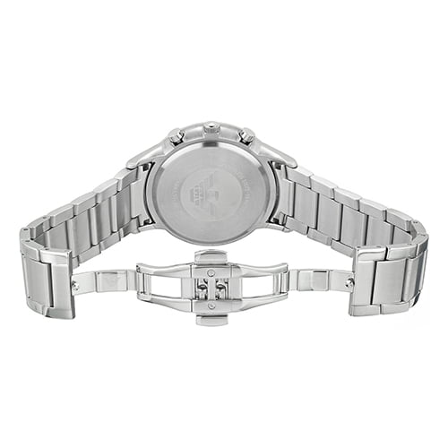 Armani Silver Stainless Blue dial Watch for Men's AR2448