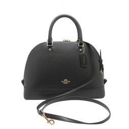 Coach Black Leather Satchels F37218-IMBLK