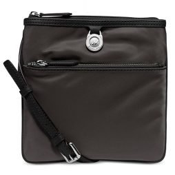 Michael Kors Black Nylon Cross Body 32S5SKPC1C-GRAPHITE SILVER