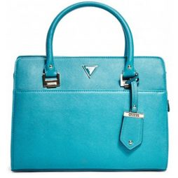Guess Teal Leather Satchels 15GF-378-TEAL