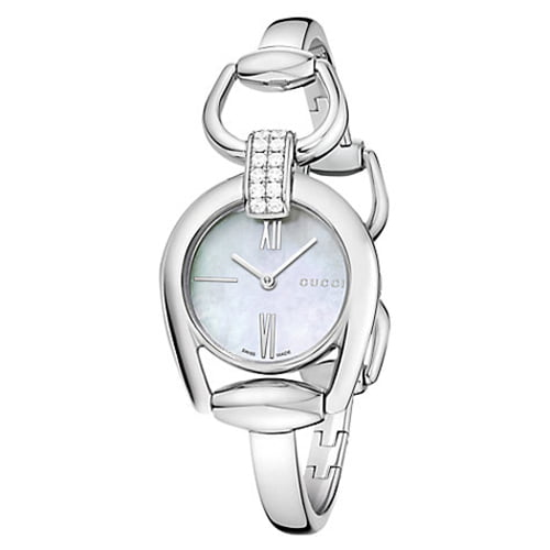 Gucci Silver Stainless White dial Watch for Women's YA139504