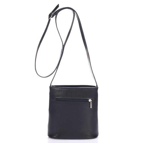 Giulia Massari Black Leather Shoulder 8017 BLACK