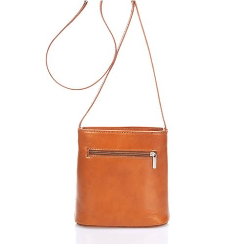 Giulia Massari No Leather Shoulder 8017 COGNAC
