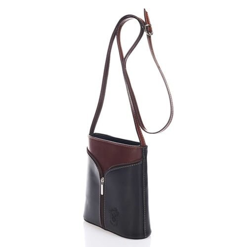 Giulia Massari Brown Leather Shoulder 8017 D BROWN