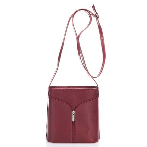 Giulia Massari Red Leather Shoulder 8017 RED
