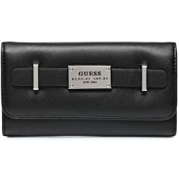 Guess Black Leather Clutch 28720110-BLACK