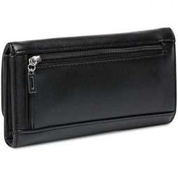 Guess Black Leather Clutch VY628351-BLACK