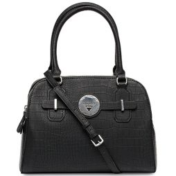 Guess Black Leather Satchels FF626106-BLACK