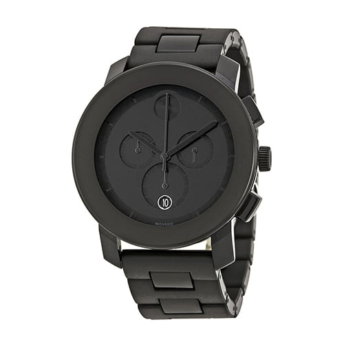Movado Black Resin Black dial Watch for Men's 3600048
