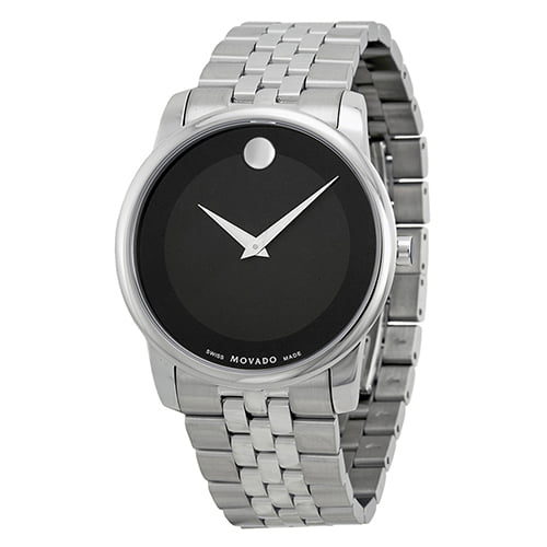 Movado Silver Stainless Black dial Watch for Men's 0606504