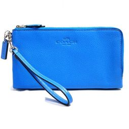 Coach Blue Leather Clutch F53561-SVAZ