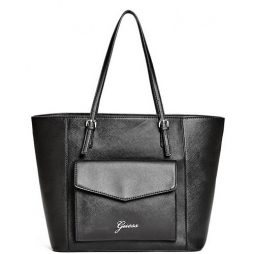 Guess Black Leather Tote VY625526-BLACK