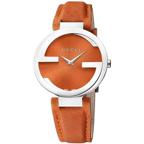 Gucci Orange Leather Orange dial Watch for Women's YA133316