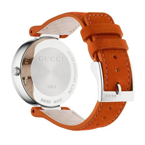 Gucci Orange Leather Orange dial Watch for Women's YA133316