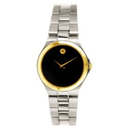 Movado Silver Stainless Black dial Watch for Women's 0606560