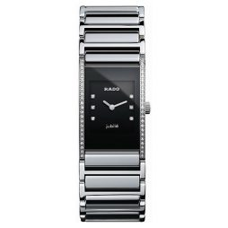Rado Silver Ceramic Black dial Watch for Women's R20759752