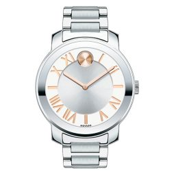 Movado Silver Stainless Silver dial Watch for FOR HER Men's 3600196