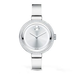 Movado Silver Stainless Silver dial Watch for Women's 3600281