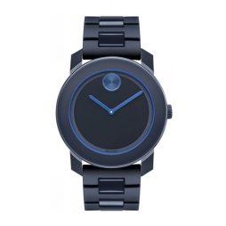 Movado Blue Polyurethane Blue dial Watch for Men's 3600314