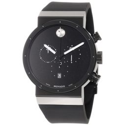 Movado Black Rubber Black dial Watch for Men's 0606501