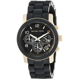 Michael Kors Black Rubber Black dial Watch for Women's MK5191