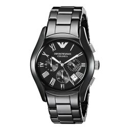 Armani Black Ceramic Black dial Watch for Men's AR1400