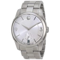 Movado Silver Stainless Silver dial Watch for Men's 0606627