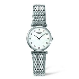 Longines Silver Stainless White dial Watch for Women's L42094876